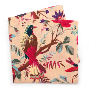 "Audubon Botanical Bandana - General Knot & Co. ,  Neck Scarves 20""x 20"" - Neckwear and travel bags"