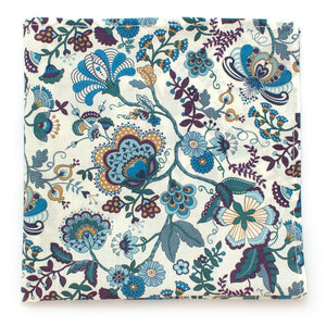 "Bamberg Botanical Square - General Knot & Co. ,  Squares 13""x13"" - Neckwear and travel bags"