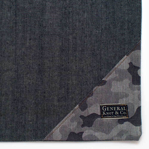 Bedford Denim Shopper- Camo - General Knot & Co. ,  Bags - Neckwear and travel bags