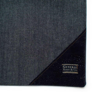 Bedford Denim Shopper- Indigo Constellation - General Knot & Co. ,  Bags - Neckwear and travel bags