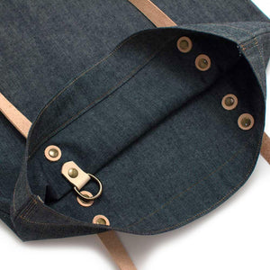 Bedford Denim Shopper- Ivory Tidalwave - General Knot & Co. ,  Bags - Neckwear and travel bags