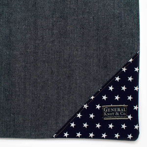 Bedford Denim Shopper- Stars - General Knot & Co. ,  Bags - Neckwear and travel bags