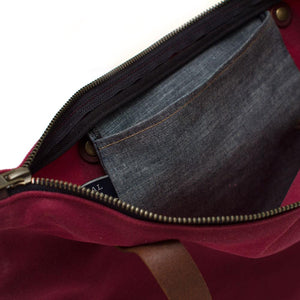 Beetroot Waxed Canvas Portfolio Tote - General Knot & Co. ,  Bags - Neckwear and travel bags