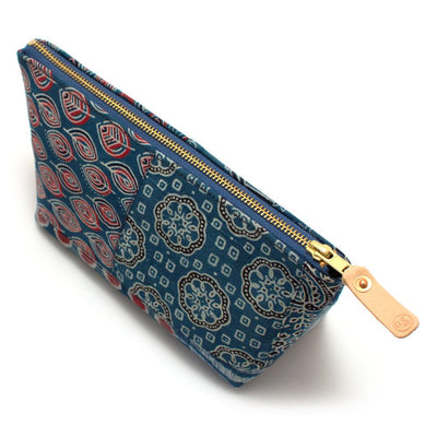 Bengal Blue Patchwork Travel Clutch Bags General Knot & Co.