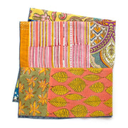 Bengal Patchwork Double Sided Bandana- Yellow - General Knot & Co. ,  Squares - Neckwear and travel bags
