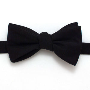 "Black Formal Classic Bow - General Knot & Co. ,  Self-Tied Classic Bow Tie 2.5"" at Widest - Neckwear and travel bags"
