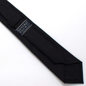 "Black Formal Classic Necktie - General Knot & Co. ,  Classic Necktie 2 7/8"" x 58"" - Neckwear and travel bags"