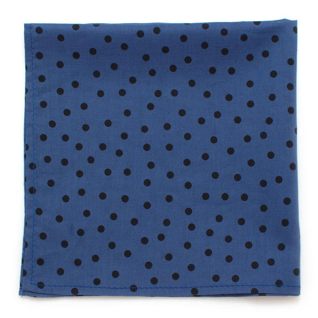 "Blue Dot Square - General Knot & Co. ,  Squares 13""x13"" - Neckwear and travel bags"