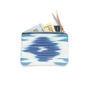 Blue Silk Ikat Wallet - General Knot & Co. ,  Bags - Neckwear and travel bags