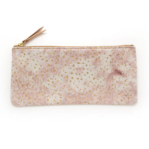 Blush Confetti Envelope Pouch - General Knot & Co. ,  Bags - Neckwear and travel bags