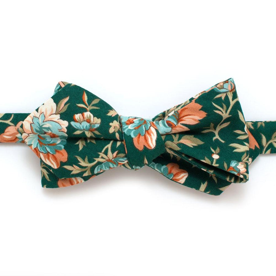 "Bourton House Garden Diamond Point Bow - General Knot & Co. ,  Self-Tied Diamond Point Bow 2.5"" at widest - Neckwear and travel bags"