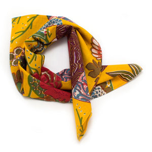 "Bright Garden Block Print Bandana - General Knot & Co. ,  Neck Scarves 20""x 20"" - Neckwear and travel bags"