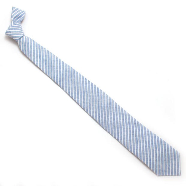 "Brook Linen Stripe Necktie - General Knot & Co. ,  Classic Necktie 2 7/8"" x 58"" - Neckwear and travel bags"