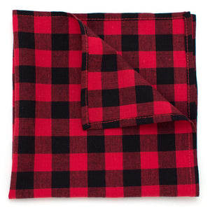 "Buffalo Check Pocket Square - General Knot & Co. ,  Squares 13""x13"" - Neckwear and travel bags"