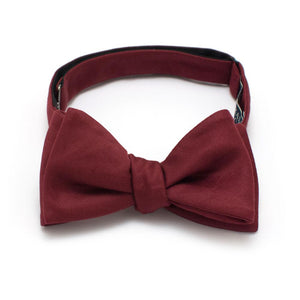 "Burgundy Formal Classic Bow - General Knot & Co. ,  Self-Tied Classic Bow Tie 2.5"" at Widest - Neckwear and travel bags"