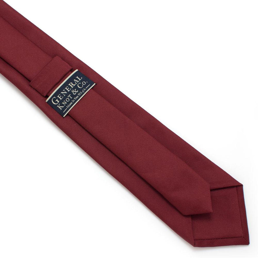 "Burgundy Formal Classic Necktie - General Knot & Co. ,  Classic Necktie 2 7/8"" x 58"" - Neckwear and travel bags"