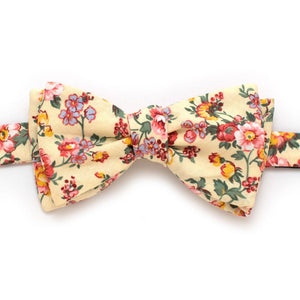 "Butter Rose Bow - General Knot & Co. ,  Self-Tied Classic Bow Tie 2.5"" at Widest - Neckwear and travel bags"