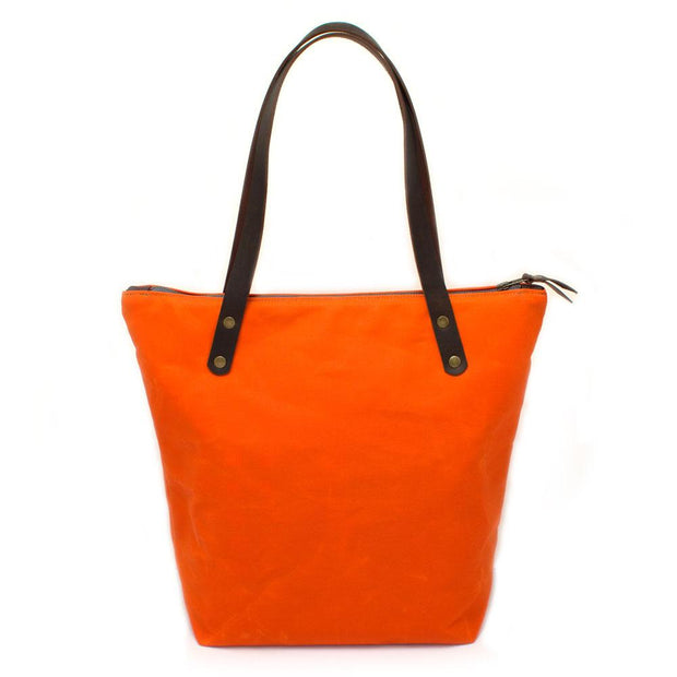 Carrot Waxed Canvas Portfolio Tote - General Knot & Co. ,  Bags - Neckwear and travel bags