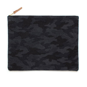 Charcoal Flannel Camo Laptop Sleeve/ Carryall- Large - General Knot & Co. ,  Bags - Neckwear and travel bags