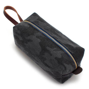 Charcoal Flannel Camo Travel Kit - General Knot & Co. ,  Bags - Neckwear and travel bags