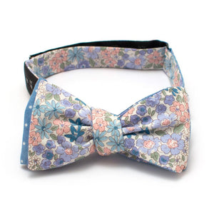 "Charleston Gardens & Sky Dot Reversible Bow-Available to ship 6/14 - General Knot & Co. ,  Self-Tied Classic Bow Tie 2.5"" at Widest - Neckwear and travel bags"