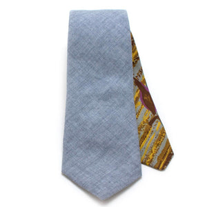 "Cloud Chambray Necktie - General Knot & Co. ,  Classic Necktie 2 7/8"" x 58"" - Neckwear and travel bags"