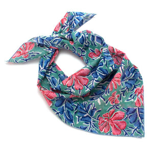 Cool Garden Block Print Bandana Squares General Knot & Co.