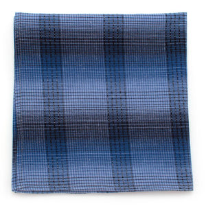 "Cornflower Shadow Plaid Square - General Knot & Co. ,  Squares 13""x13"" - Neckwear and travel bags"