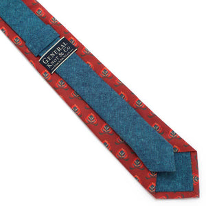 "Crimson Avignon Necktie - General Knot & Co. ,  Classic Necktie 2 7/8"" x 58"" - Neckwear and travel bags"