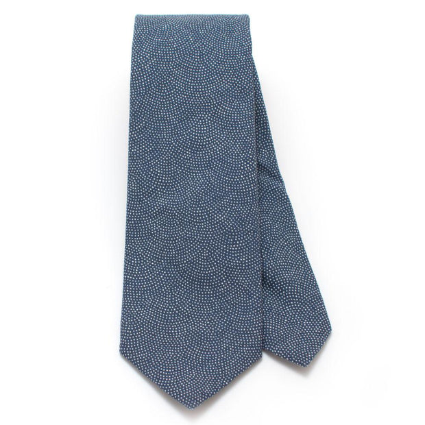 "Denim Dot Necktie - General Knot & Co. ,  Classic Necktie 2 7/8"" x 58"" - Neckwear and travel bags"