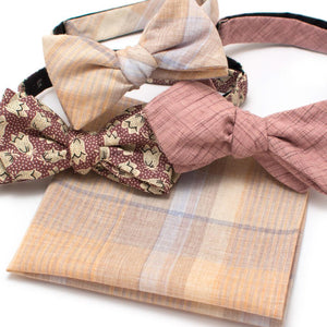 "Dutch Dot Bow - General Knot & Co. ,  Self-Tied Diamond Point Bow 2.5"" at widest - Neckwear and travel bags"