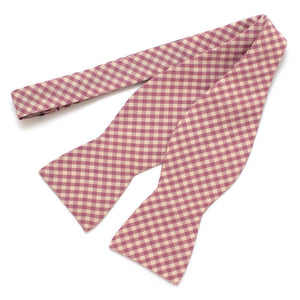 "Endicott Gingham Bow- Lilac - General Knot & Co. ,  Self-Tied Classic Bow Tie 2.5"" at Widest - Neckwear and travel bags"