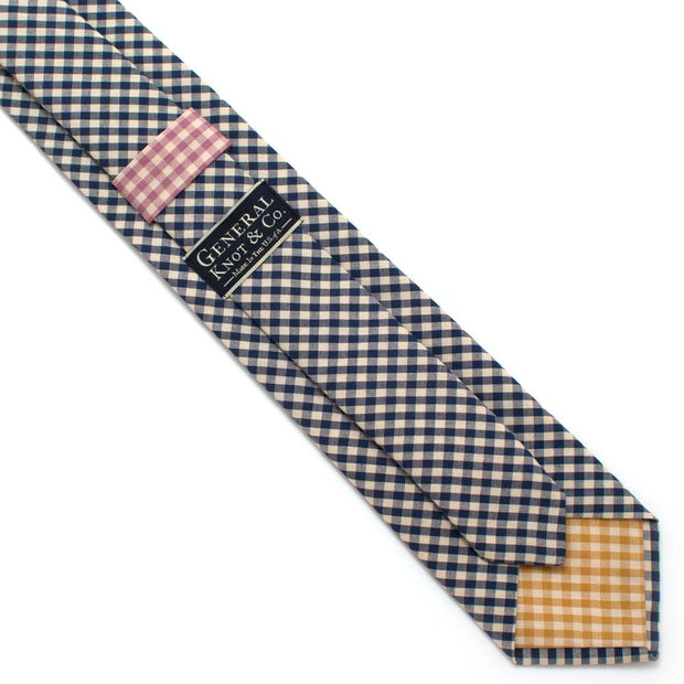 "Endicott Gingham Necktie- Ink - General Knot & Co. ,  Classic Necktie 2 7/8"" x 58"" - Neckwear and travel bags"