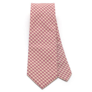 "Endicott Gingham Necktie- Lilac - General Knot & Co. ,  Classic Necktie 2 7/8"" x 58"" - Neckwear and travel bags"