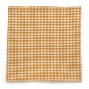 "Endicott Small Gingham Square- Gold - General Knot & Co. ,  Squares 13""x13"" - Neckwear and travel bags"