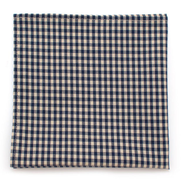 "Endicott  Gingham Square- Ink - General Knot & Co. ,  Squares 13""x13"" - Neckwear and travel bags"