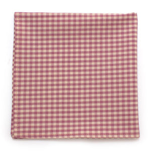 "Endicott Gingham Square-Lilac - General Knot & Co. ,  Squares 13""x13"" - Neckwear and travel bags"