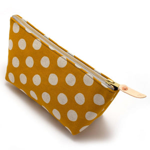 Flax & Gold Dot Travel Clutch - General Knot & Co. ,  Bags - Neckwear and travel bags