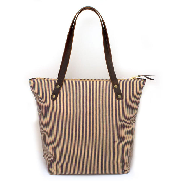 French Ticking Stripe Portfolio Tote - General Knot & Co. ,  Bags - Neckwear and travel bags