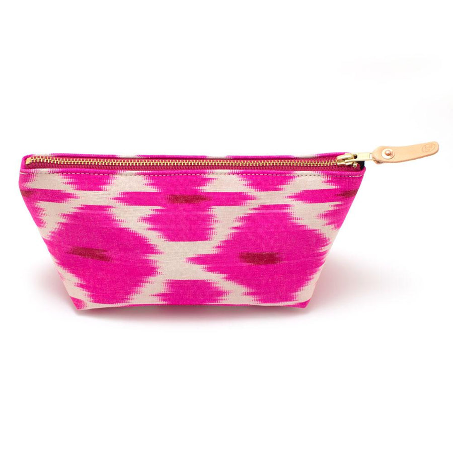 Fuchsia Diamond Ikat Travel Clutch - General Knot & Co. ,  Bags - Neckwear and travel bags