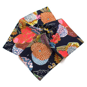 "Dark Garden Block Print Bandana - General Knot & Co. ,  Neck Scarves 20""x 20"" - Neckwear and travel bags"