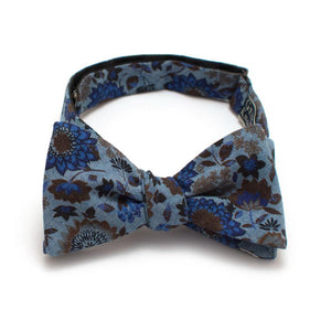 "Genoa Garden Chambray Bow - General Knot & Co. ,  Self-Tied Classic Bow Tie 2.5"" at Widest - Neckwear and travel bags"