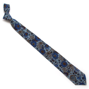 "Genoa Garden Chambray Necktie - General Knot & Co. ,  Classic Necktie 2 7/8"" x 58"" - Neckwear and travel bags"