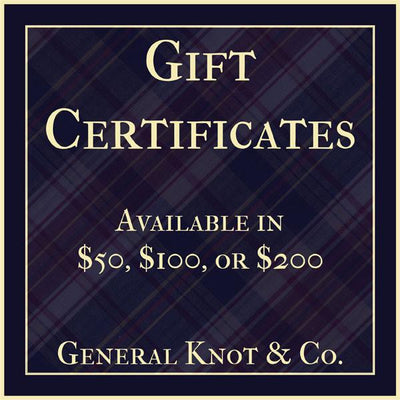 Gift Card - General Knot & Co. ,  Gift Card - Neckwear and travel bags