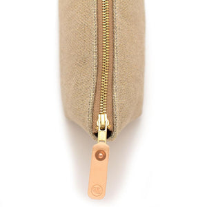 Gold and Flax Basketweave Travel Clutch Bags General Knot & Co.
