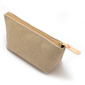Gold and Flax Basketweave Travel Clutch - General Knot & Co. ,  Bags - Neckwear and travel bags