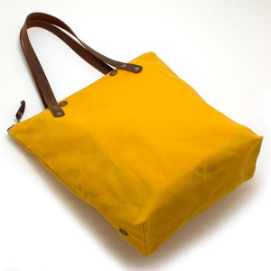 Golden Rod Waxed Canvas Portfolio Tote - General Knot & Co. ,  Bags - Neckwear and travel bags
