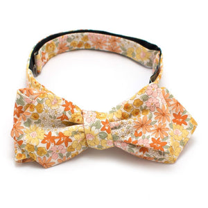"Golden Valley Floral Bow - General Knot & Co. ,  Self-Tied Classic Bow Tie 2.5"" at Widest - Neckwear and travel bags"