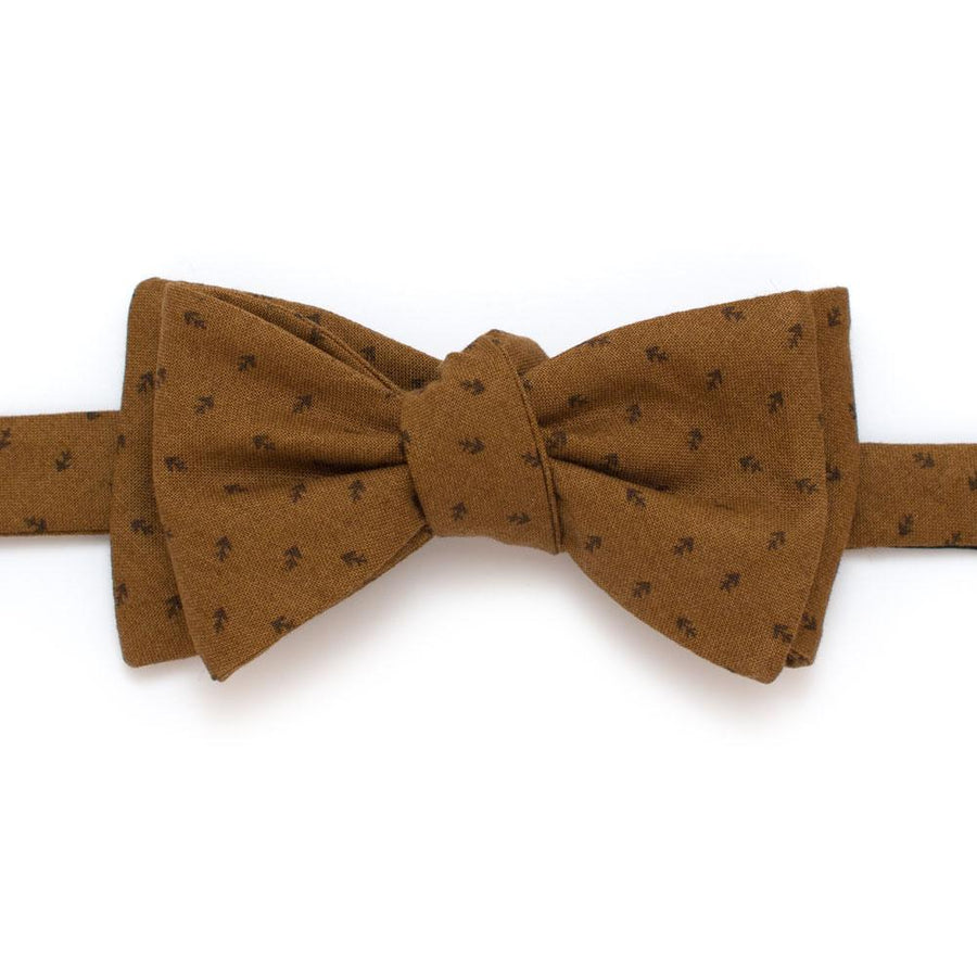 "Harvest Geo Classic Bow- Bronze - General Knot & Co. ,  Self-Tied Classic Bow Tie 2.5"" at Widest - Neckwear and travel bags"