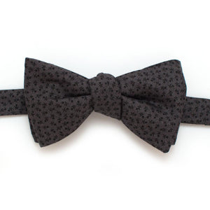 "Harvest Geo Classic Bow- Charcoal - General Knot & Co. ,  Self-Tied Classic Bow Tie 2.5"" at Widest - Neckwear and travel bags"